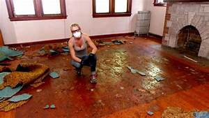 Rehab addict paint stain wood refinishing rehab for How to paint wood floors diy network