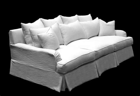 down filled slipcovered sofa goose down sofa feather down sofa horchow thesofa