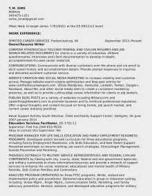 keywords in federal resumes federal resume sle for education series 1701