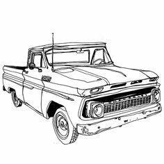 1964 chevrolet truck clipart With custom 66 chevy trucks