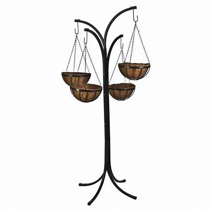 Hanging Tree Plant Stand Arm Baskets Basket
