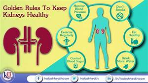 Golden Rules To Keep Kidneys Healthy