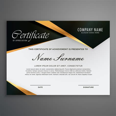 qualification card template elegrant premium luxury style certificate of qualification