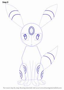 Learn How to Draw Umbreon from Pokemon (Pokemon) Step by ...