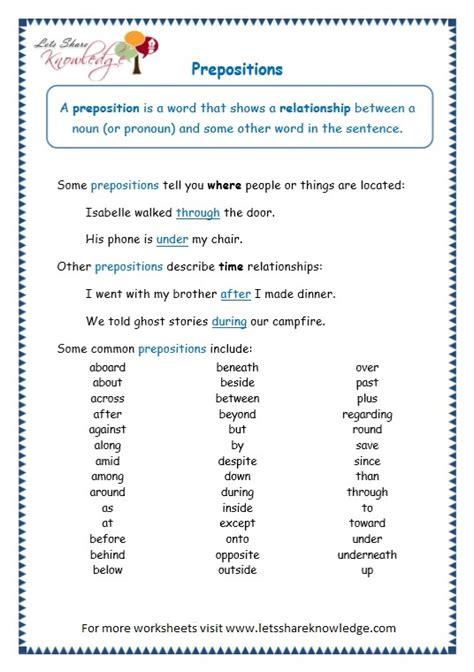 all worksheets 187 preposition worksheets grade 3