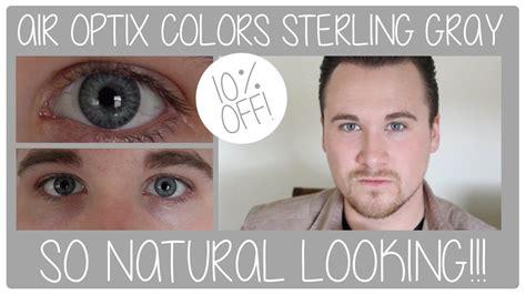 colors review air optix colors contact lenses sterling gray review