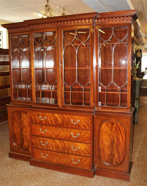 antique breakfront china cabinet antique desks and breakfronts