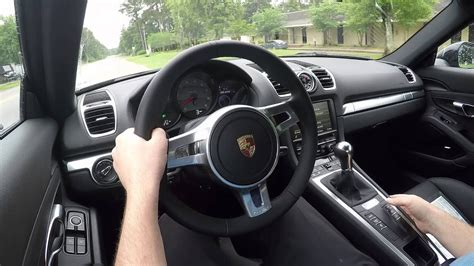 demo   porsche cayman  manual  sport chrono
