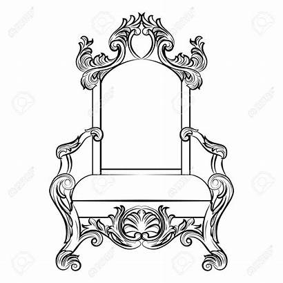 Throne Drawing Chair Draw Coloring King Pages