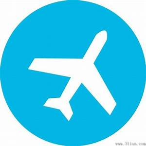 Blue airplane icon vector Free vector in Adobe Illustrator