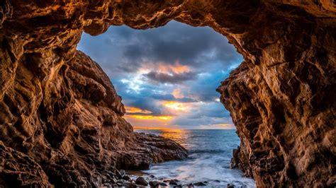 El Matador State Beach sea cave wallpaper - backiee