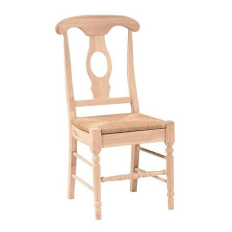 international concepts empire seat unfinished solid