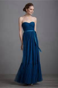 blue bridesmaids dresses navy blue bridesmaid dress gown bhldn onewed