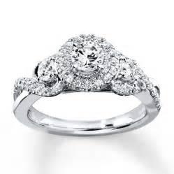 14k white gold engagement rings engagement ring 7 8 ct tw cut 14k white gold