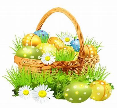 Easter Bunny Flowers Basket Transparent Pluspng
