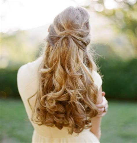 hochzeitsfrisur lange haare offen simple laessig wellen