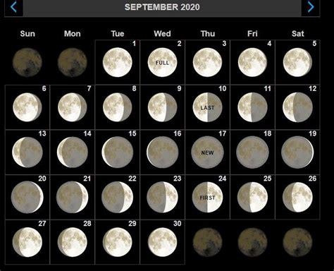 full moon calendar  september  moon phase