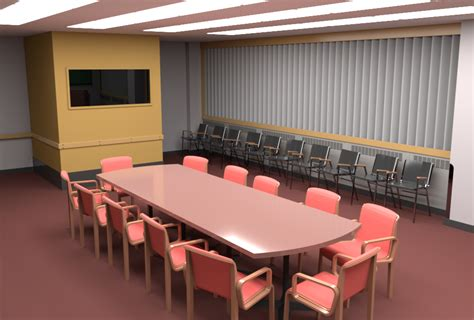 Conference Room First Results For Pixar's Renderman