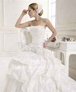 free shipping strapless ball gowns flowers taffeta pleats With name brand wedding dresses for less