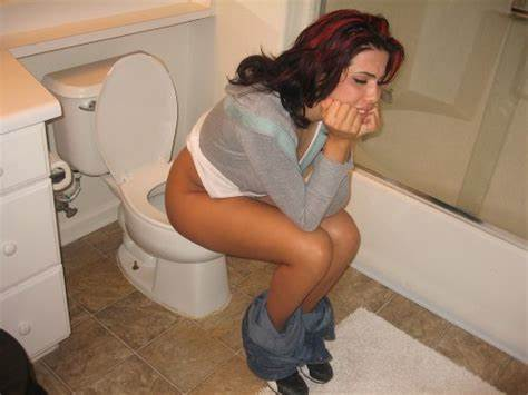 Delicious Woman On Toilet Pooping Class Dolly Poop In Toilet