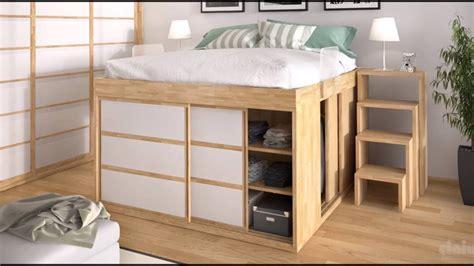 armoir chambre idée déco chambre lit armoire lit surélevé