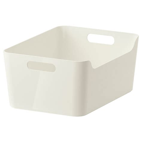 ikea kitchen storage boxes variera box white 34 x 24 cm ikea 4564