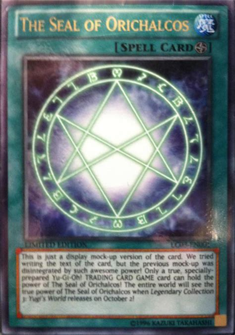 yugioh seal of orichalcos deck 2012 the thunder productions it can t be the seal of
