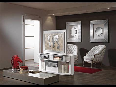 Living Room L Stands by Revolving Tv Stand Vismara Design For Middle Room Tv Turn