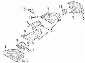 Ford Escape Floor Pan Heat Shield  Liter  Muffler  Front