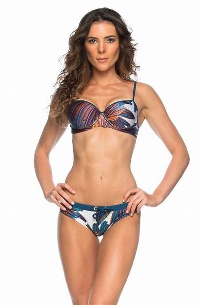 Star Bikini Underwire Printed Feather Piece Swimwear