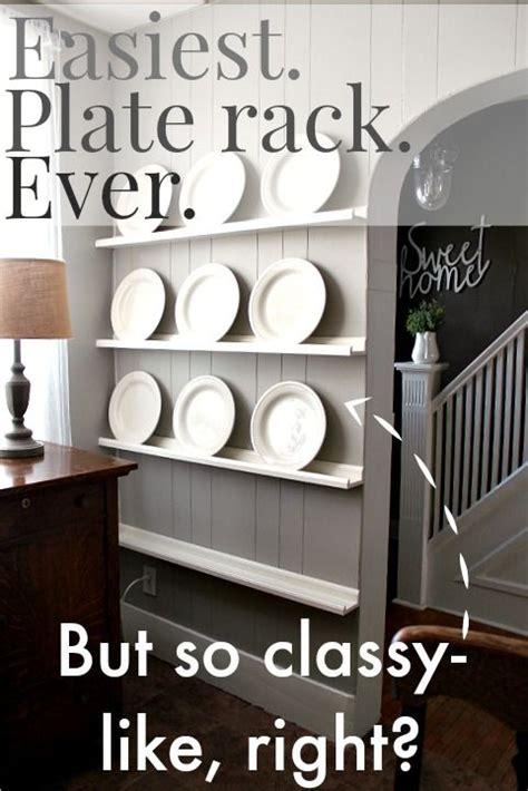easiest   diy  plate rack   storage  decor   diy plate