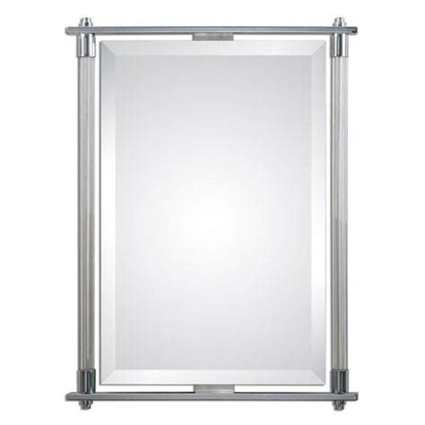Polished Chrome Bathroom Mirrors by Adara Vanity Polished Chrome 35 5 Inch Mirror Uttermost