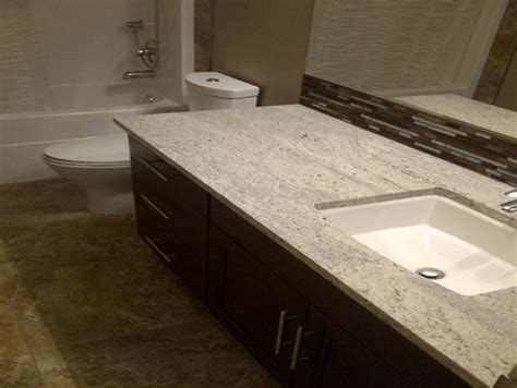 Runner Rugs For Bathroom by Tile To Go With Kashmir White Granite And Dark Cabinets