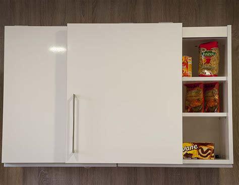 meuble cuisine porte coulissante meuble de cuisine haut avec porte coulissante 8 idées de