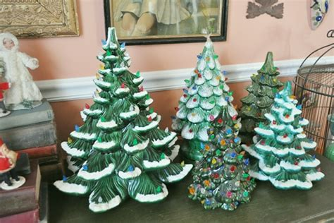 ceramic christmas tree collection  vintage home