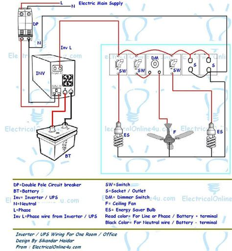 how to wire a room in house electrical online 4u ups inverter wiring diagram for one room office