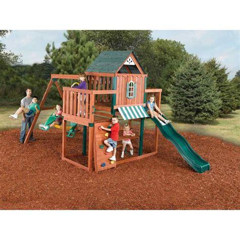 backyard playset plans backyard swingnslide winchester wood build a 1448