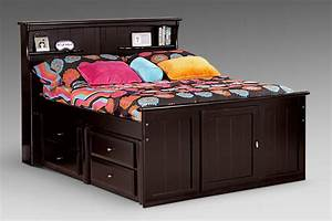Full, Bookcase, Storage, Bed