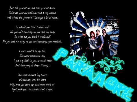 Paramore Wallpaper With Lyrics