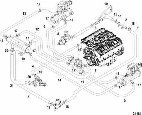 Mercruiser Cooling System Schematic Within Diagram