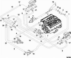 350 Mercruiser Cooling System Schematic Within Diagram Wiring And Engine