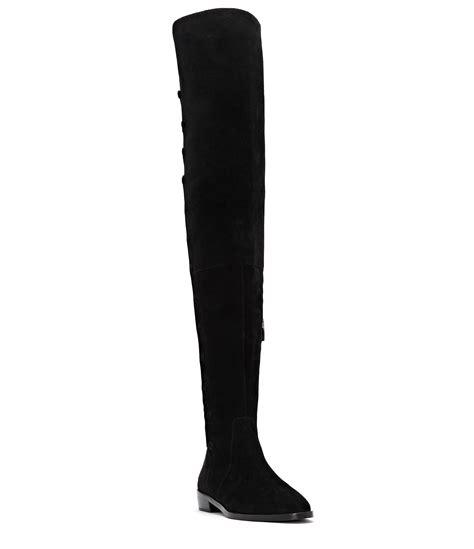 vince camuto coatia suede covered button block heel