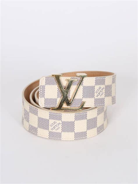 louis vuitton initiales damier azur canvas belt  luxury bags