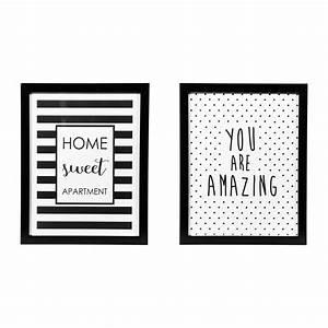 Cadre Deco Noir Et Blanc : tableau citation affiche noir blanc cadre tendance boutique baia ~ Melissatoandfro.com Idées de Décoration