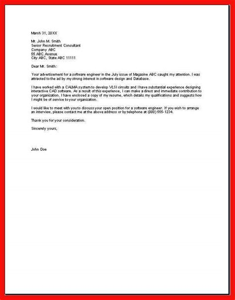 Simple Cover Letter by Basic Cover Letter Sle Apa Exle