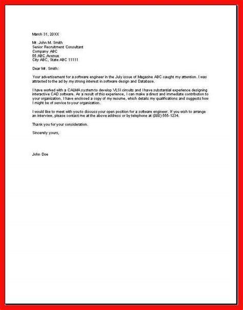 Basic Cover Letter by Basic Cover Letter Sle Apa Exle