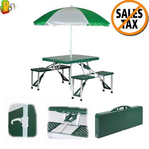 folding picnic table with umbrella picnic table set folding portable table umbrella beach 4