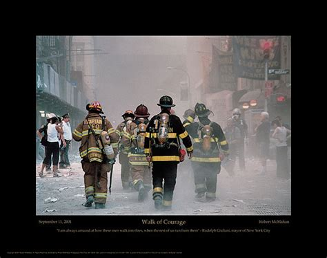 firefighter walk  courage poster  photo print