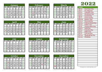 printable  yearly calendar template calendarlabs