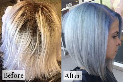 Shimmer Lights Shoo Before And After by Periwinkle Platinum Behindthechair